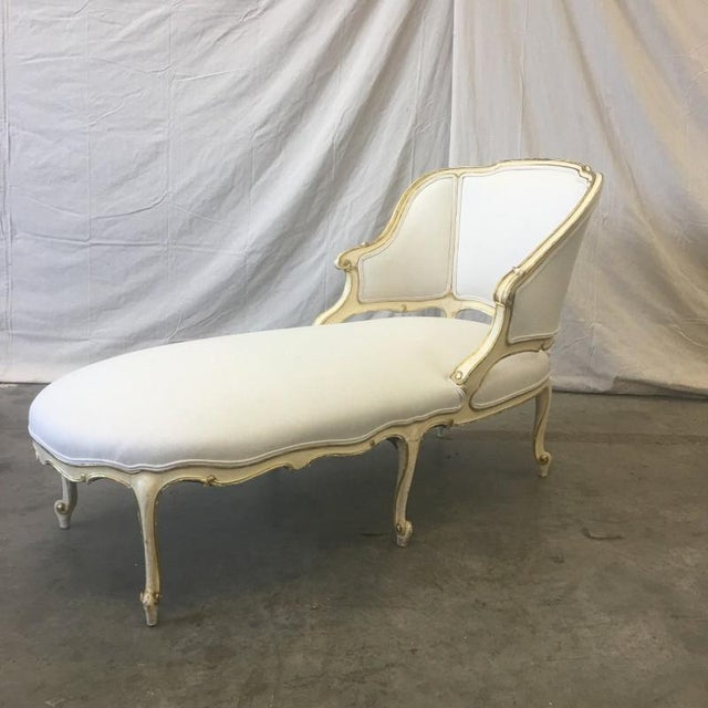 Italian Parcel Gilt Chaise Lounge Recaimier Fainting Sofa - Image 2 of 8