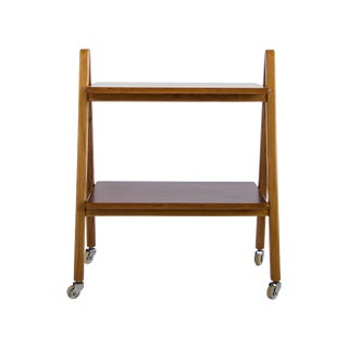 Danish Rosewood Folding Bar Cart