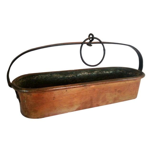 Vintage French Copper Hanging Planter - Image 1 of 8