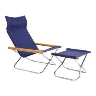 Takeshi Nii NY Folding Chair With Ottoman