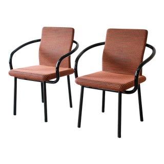 Ettore Sottsass for Knoll Mandarin Armchairs, A Pair