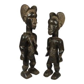 Ivory Coast African Dan Statues - A Par