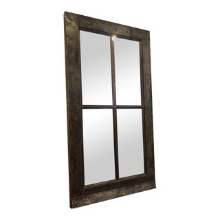 Large Industrial Floor Mirror