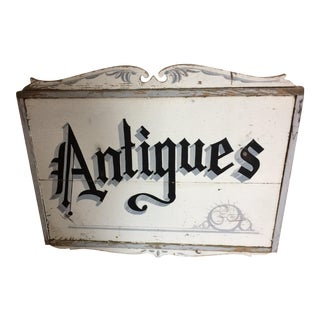 Authentic Vintage Antiques Sign
