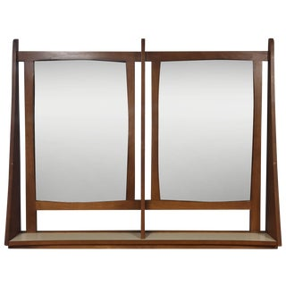 Mid-Century Modern Double Mirror