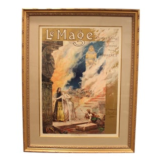 19th C. Framed French Opera Poster