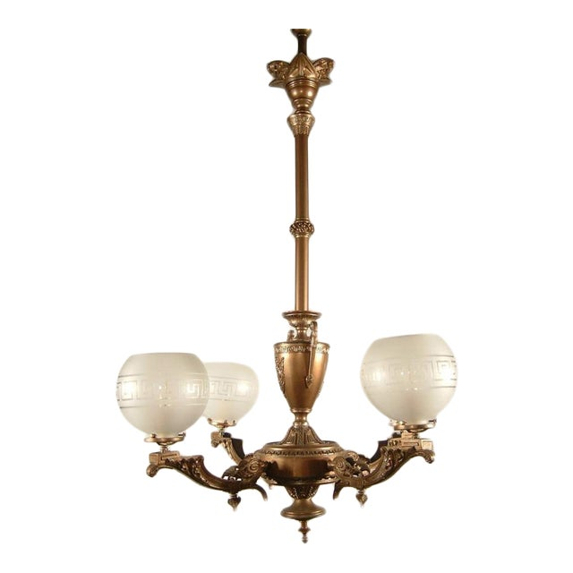 Renaissance Spelter Gas Fixture (4-Light) - Image 1 of 8