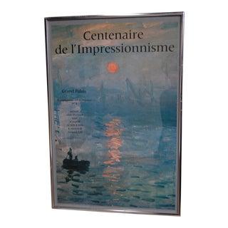 """""""Centenaire de l'impressionnisme"""" Framed Grand Palais Exhibition Poster"""