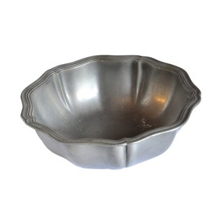 Vintage French Pewter Bowl