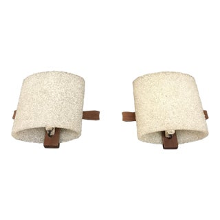 Pair Of Mid Century Modern Wall Sconce, Danish Style Circa 1950s.
