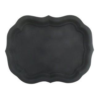 Vintage Black Tole Tray