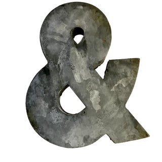 Corrugated Metal Hanging Ampersand