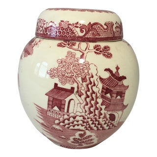 English Mason's Red Willow Ironstone Ginger Jar