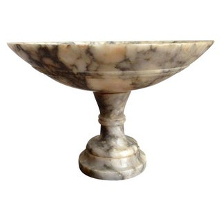 Italian Marble Footed Pedestal Compote