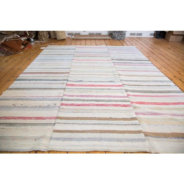 "Vintage Striped Rag Rug - 7'5"" x 9'11"" - Image 4 of 6"
