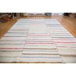 "Image of Vintage Striped Rag Rug - 7'5"" x 9'11"""