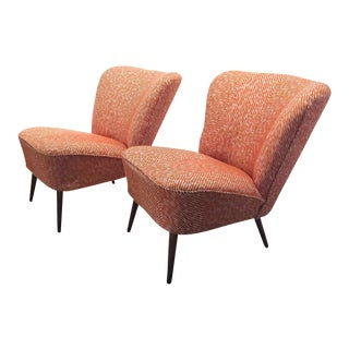 Mid-Century German Bartholomew Cocktail Chairs - a Pair