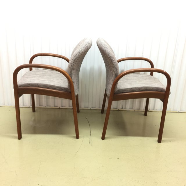 Mid-Century Gunlocke Walnut Chairs - A Pair - Image 3 of 11