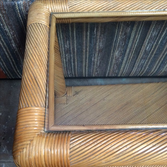 Two Tier Rattan Table - Image 5 of 6