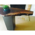 Image of Live Edge Walnut Pedestal Console Table