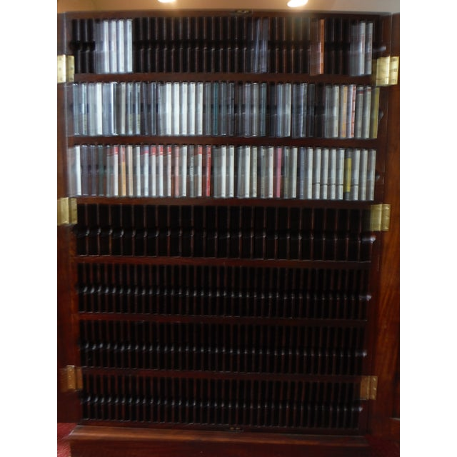 Indian Iron Wood CD/DVD Armoire - Image 8 of 10