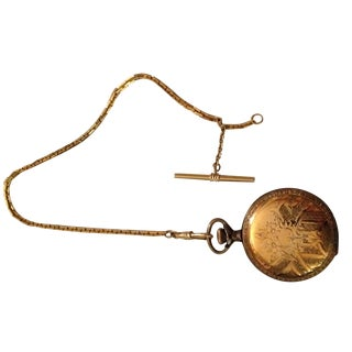 1920s Antique 10k Gold Filled Pocket Watch