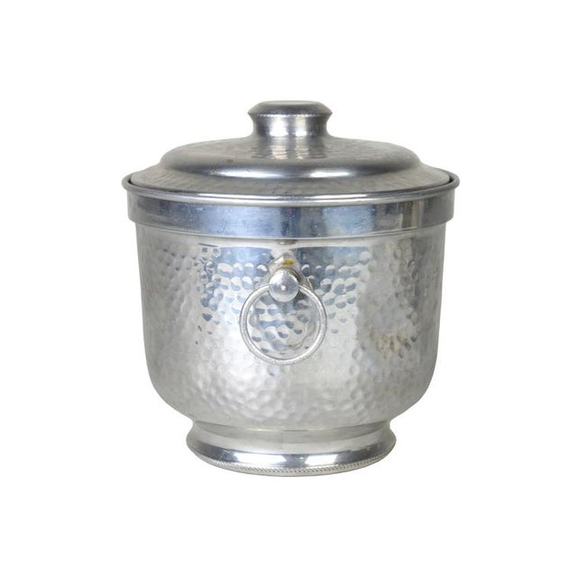 Aluminum Ice Bucket Vintage Italian Aluminum Ice Bucket Chairish