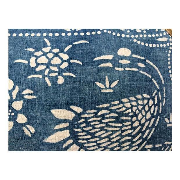 Antique Indigo Crane Batik Body Pillow - Image 4 of 6