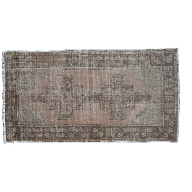 "Distressed Oushak Rug - 4'4"" x 8'2"" - Image 1 of 6"