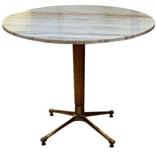 Travertine Top Table