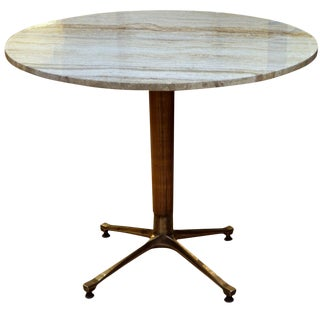 Travertine Top Table