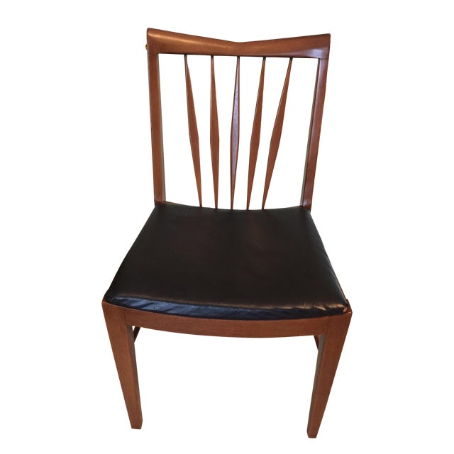 John A. Colby & Sons MCM Walnut Desk Chair - Image 1 of 8