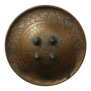Antique Solid Bronze Persian Shield -Beautiful Wall hanger