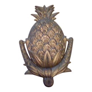 Vintage Brass Pineapple Door Knocker