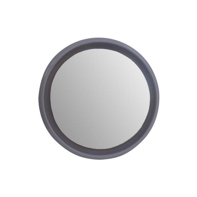 Vintage Ceramic Round Beveled Wall Mirror - Image 1 of 10