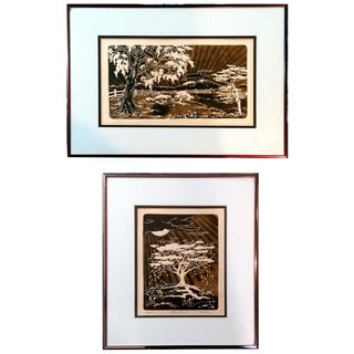 Al Kaufman Intaglio Etchings - A Pair