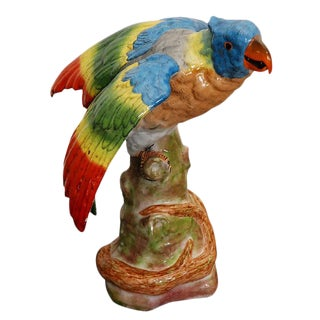 French Porcelain Parrot