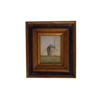P.Decante Windmill Oil Painting