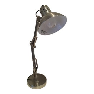 Silver Metal Table Top Drafting Lamp