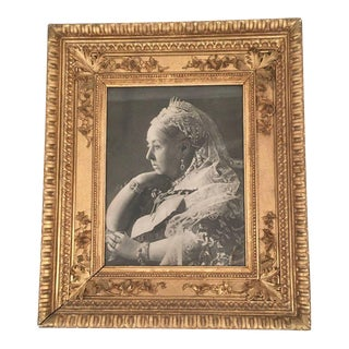 Portrait of Queen Victoria in Antique Giltwood Frame