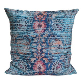 Blue Ikat Print Pillow Cover -18''