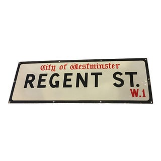 Vintage City of Westminster Regent St Porcelain Sign