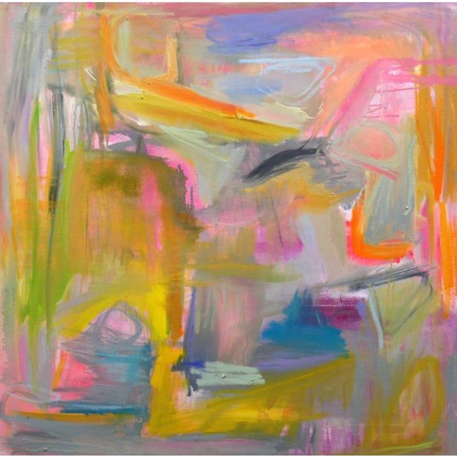 """Image of Abstract """"South Beach Sunset"""" Paintings - A Pair"""