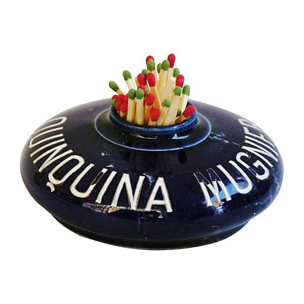 Vintage French Quinquina Mugnier Match Holder - Image 3 of 7