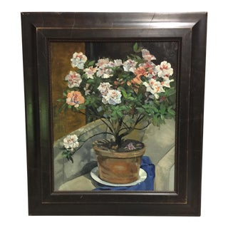 Oil on Board Floral Still-Life Painting
