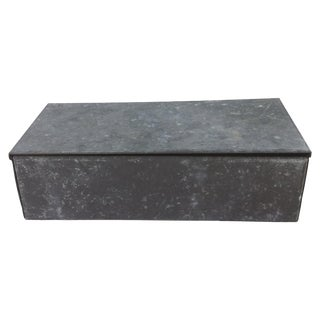 Mini Galvanized Industrial Steel Lidded Box