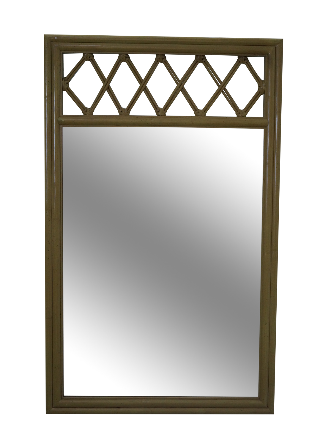 ficks reed vintage painted rattan u0026 bamboo mirror - Bamboo Mirror