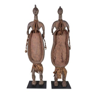 Large, Male and Female, African Tribal Figures