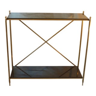French Brass & Granite Console