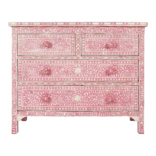 Pink Bone Inlay Dresser